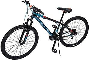 Bicicleta Mercurio Kaizer R26 con Suspensión, para Hombre, Negro/Azul/Naranja