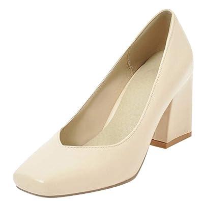 6d05cca0e8a Latasa Women s Square-Toe Block Heel Pumps Shoes (4.5