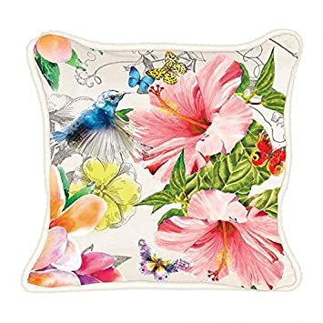 Michel Design Works Decorative Throw Pillow, 18 x 18, Paradise, Square,