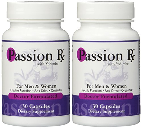 2 Bottles Passion Rx with Yohimbe, 30 Capsules - Formulated by Ray Sahelian, M.D by Advance Physician Formulas