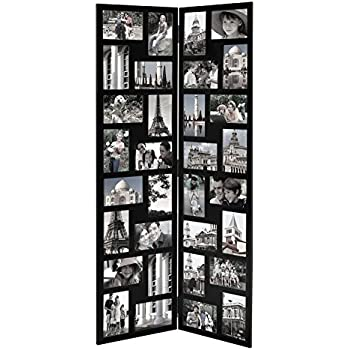 Amazon.com - Adeco PF0559 Decorative Black Wood Folding Floor ...