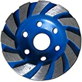 """Heavy Duty 4"""" Concrete Turbo Diamond Grinding Cup Wheel for Angle Grinder 12 Segs"""