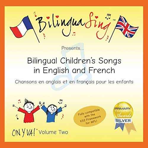 LOVED BY PARENTS! French Songs For Children CD | French for kids | BilinguaSing (ON Y VA Vol.2) …
