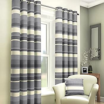 Black And White Striped Curtain Panels 108