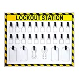 Wotefusi Industrial Security Lockout Station/Center for Safety Padlocks,Unfilled, Station Only