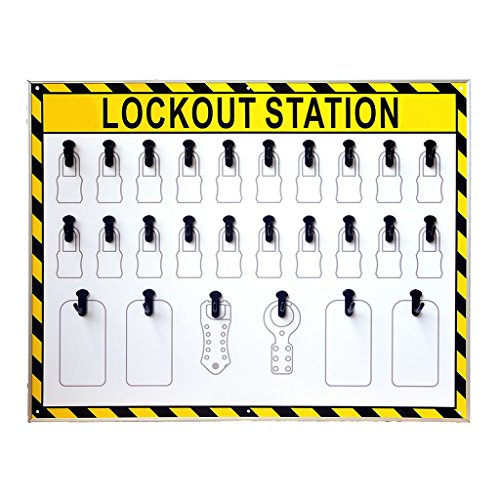 Wotefusi Industrial Security Lockout Station/Center for Safety Padlocks,Unfilled, Station Only by Wotefusi (Image #1)