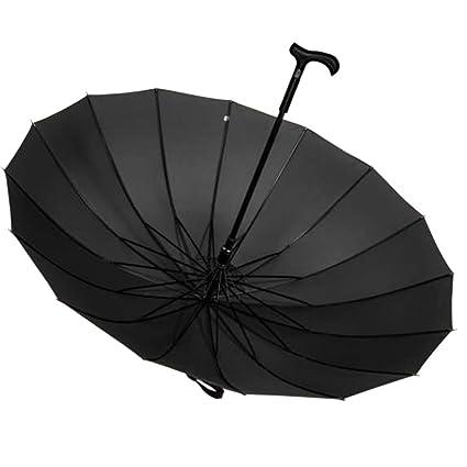 Soleado Lluvia Paraguas Largo Mango Paraguas Negro automático Creativo Paraguas Paraguas Doble muleta Grande