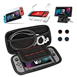 DYIXIN 13 in 1 Accessories compatible with Nintendo Switch, Carrying Case, Clear Case,