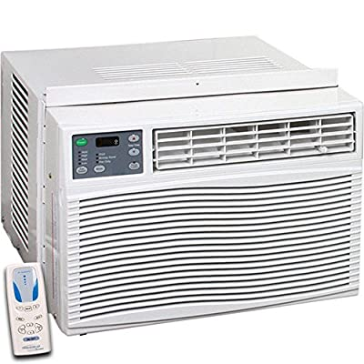 Thermocore T1-WAC-12HCP 12,000 BTU Window Air Conditioner, Heat Pump and Heater with Remote Control, 4 Fan Speed Options, 4-way Directional Louvers, Loss of Power Protection with Auto-restart, 24 Hour Timer, 220VAC