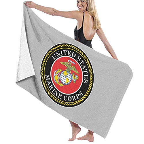 VIMMUCIR United States Marine Corps Adult Soft Microfiber Printed Beach Towel - Super Absorbent Fade Resistant Towel for Swimming, Surf, Gym, Spa 30in X 50in
