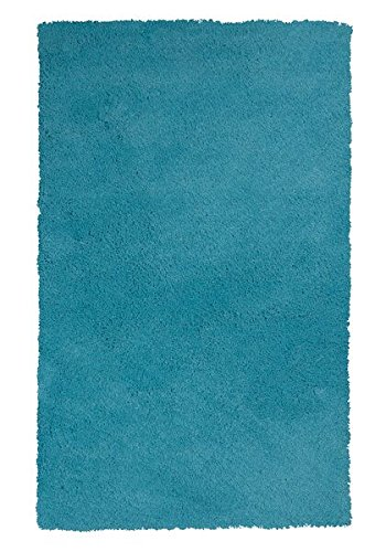 KAS Rugs 1577 Bliss Area Rug, 27 by 45-Inch, Highlighter Blue