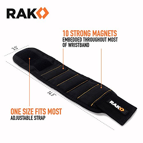 RAK-Magnetic-Wristband-with-Strong-Magnets-for-Holding-Screws-Nails-Drill-Bits-Best-Tool-Gift-for-DIY-Handyman-Men-Women