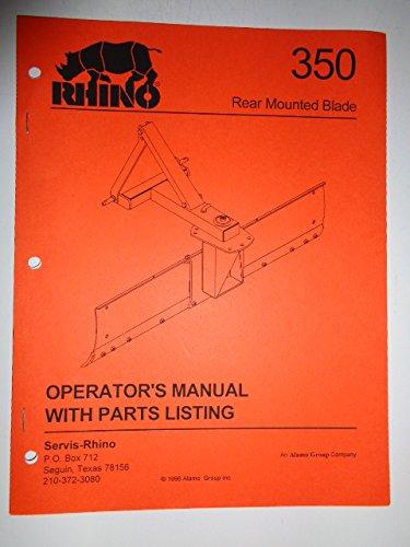Rhino 350 Rear Mounted Blade Operators Manual/Catalog with