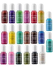 20 Colors Metallic Pearlescent Epoxy UV Resin Coloring Dye Liquid Pigment Resin Colorant