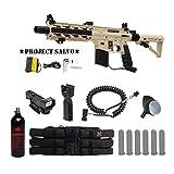 response trigger 98 custom - MAddog Tippmann U.S. Army Project Salvo Tactical Red Dot Paintball Gun Package - Tan