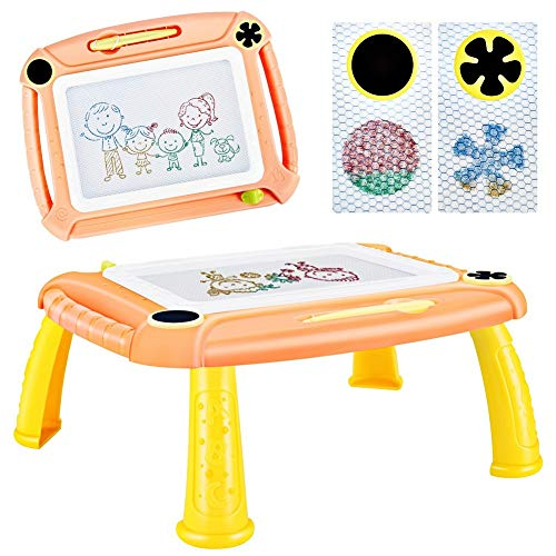 TTMOW Pizarras Magica Infantil Colorido con Pluma, Grande Color Magnetico Doodle Sketch Pad para Ninos Infantiles (Orange)