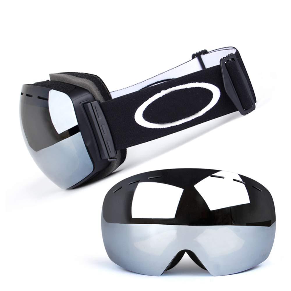 GSDZN - Skibrille Ski Schutzbrille Mit Dual Dual Dual Layer Objektiv 100% UV400 Schutz Anti-Fog Mit Fix-Punkt Anti-Rutsch-Gurt Unisex Snowboard Ski Goggles B07K21Y3T1 Sonnenbrillen eine breite Palette von Produkten ef5d70