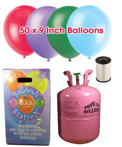 1 Disposable Helium Balloon Gas Cylinder by Shower My Baby   B01NBCI9X2