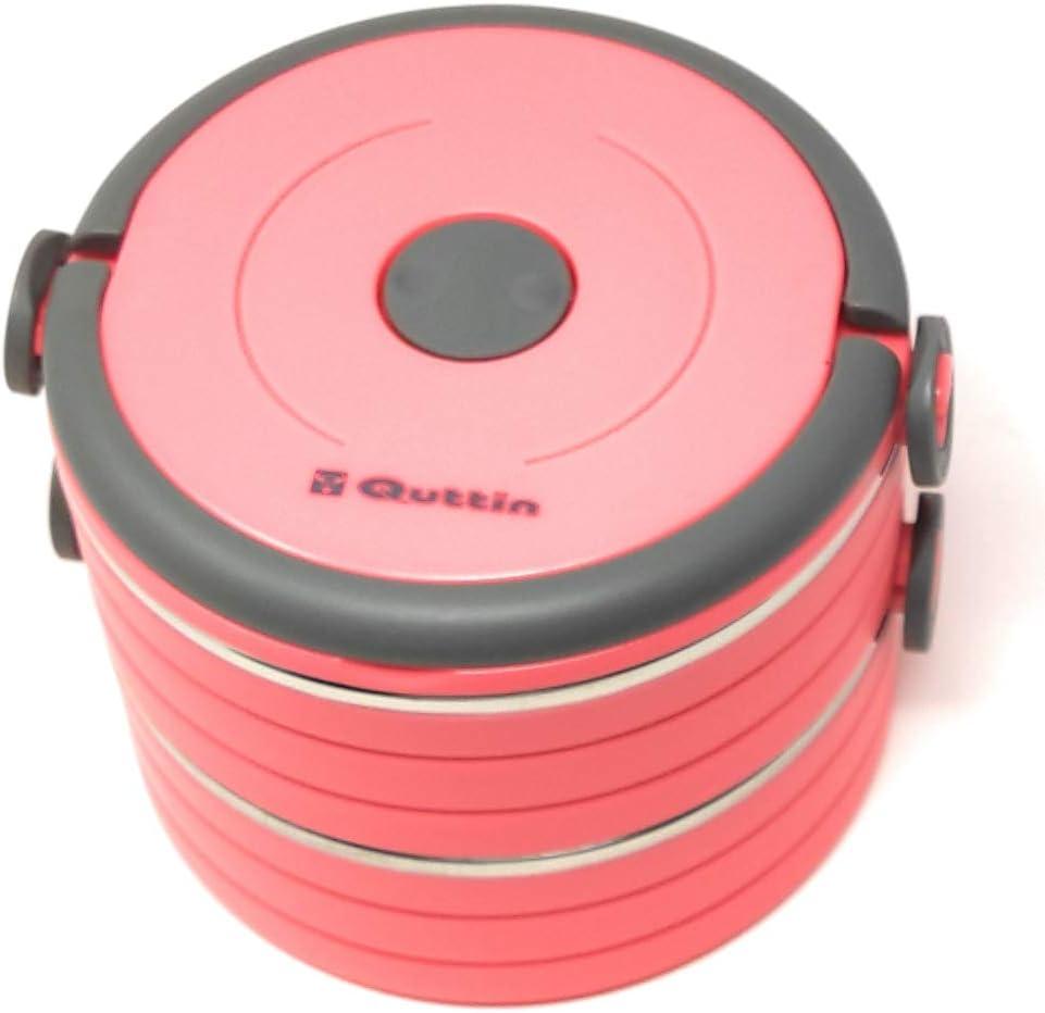 apilable acero inoxidable apto para lavavajillas rojo con 2 capas 2 recipientes aislados de 600 ml Fiambrera t/érmica port/átil