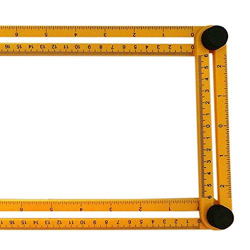 [해외]Tmibay 플라스틱 접는 통치자 멀티 앵글 플라스틱 통치자 홈 측정 도구/Tmibay Plastic Folding Ruler Multi-Angle Plastic Ruler Measuring Tool for Home