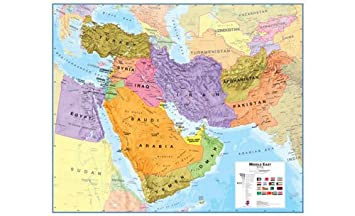 Amazoncom Extra Large Middle East Wall Map political