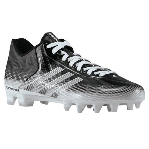 Adidas Men's Crazyquick Low Molded Football Cleats, Black/White, 9