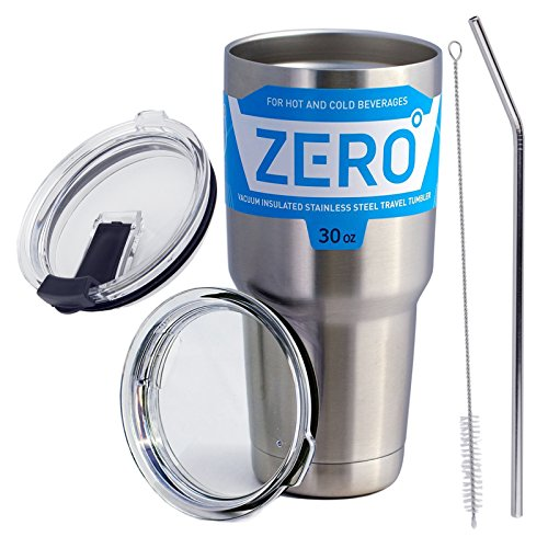Stainless Steel Tumbler with Lid, Double Wall Vacuum Insulated Travel Mug for Hot and Cold Drink by Zero Degree (30oz (Double Wall Travel Tumbler)