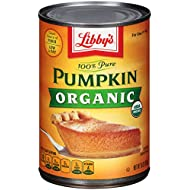 Libby's Pure Organic Pumpkin, 15 Ounce (Pack of 12)