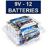 ACDelco 9 Volt Batteries, Super Alkaline Batteries, 12 Count