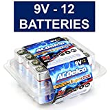 ACDelco 9V Super Alkaline Batteries in Reclosable Package, 12Count