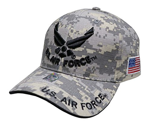 US Air Force Embroidered Military Baseball Cap Hat (Wing and Text Universal )