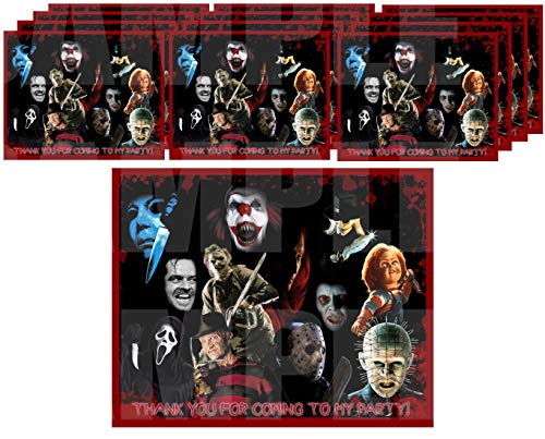 Halloween Film Night Ideas (Horror Movie Icons Stickers Party Favors Supplies Decorations Gift Bag Label Stickers ONLY 3.75