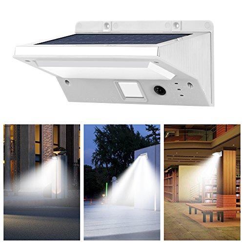 Solar Lights Outdoor IThird 3 5W LED Motion Sensor Lamp Sconces 3 Modes Sola