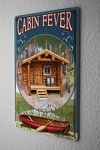 Tin Sign Holiday Travel Agency Cabin fever by LEOTIE