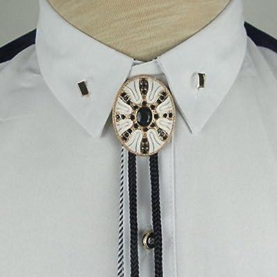 pas de taxe de vente style classique de 2019 haute qualité White Mask Bolo Bola Tie Metal Cravat Western Cowboy Necktie ...