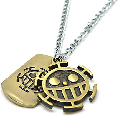 One Piece Trafalgar Law Logo Necklace Unisex Chain Pendant Anime Gift