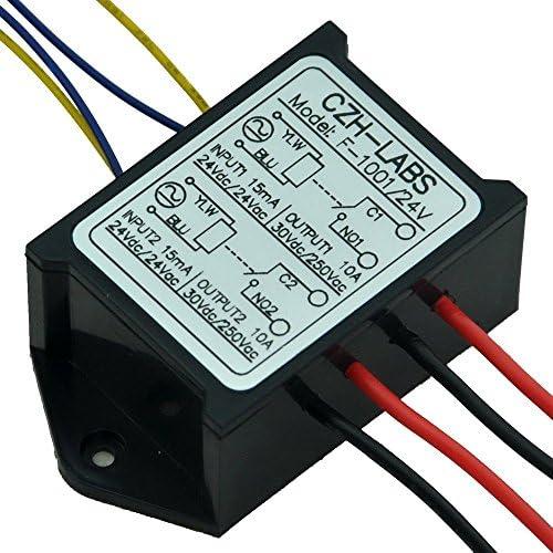 Electronics-Salon 1 Double spst-no 10 Amp Power Module de relais AC//DC 12 V Tension de contr/ôle.