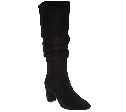 H by Halston Tall Shaft Suede Boots with Heel - Sarah sale 2014 cheap sale genuine buy cheap Inexpensive vUJvANIdHb