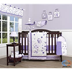 GEENNY Boutique Baby Girl's 13 Piece Nursery Crib Bedding Set, New Lavender