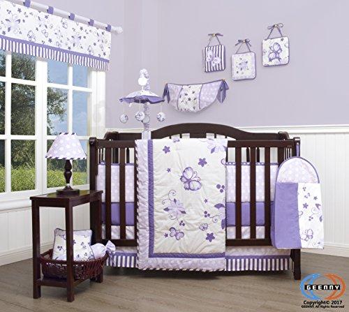 GEENNY Boutique Baby 13 Piece Nursery Crib Bedding Set, New Lavender