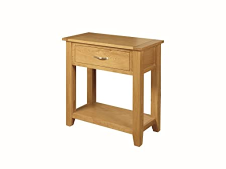 Edmonton Oak Medium Oak Console Table Hall Table with 1 Drawer