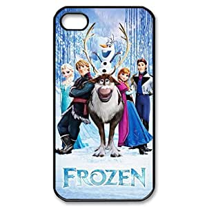4S Case,pc hard iPhone 4s Case,Cartoon Frozen Design Fashion Pattern Hard Back Cover Snap on Case for iPhone 4 / 4s (Black/white)