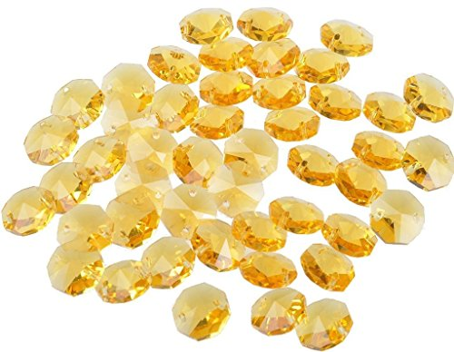 Crystal 14mm Octagon Beads, Pack of 100 (Glass Bead Trim)