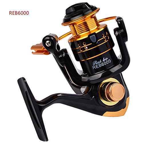 Smartcoco Spinning Fishing Reel Metal Spool 12bb Ball Bearing for Freshwater Saltwater 1000 2000 3000 4000 5000 6000 Series