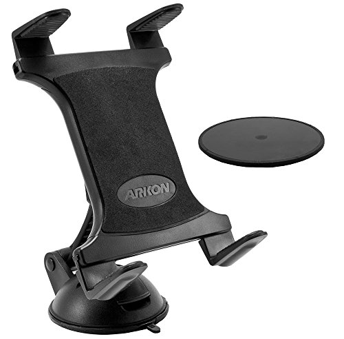 Arkon Sticky Suction Windshield or Dash Tablet Mount for iPad Pro iPad Air Samsung Galaxy Tablets Retail Black