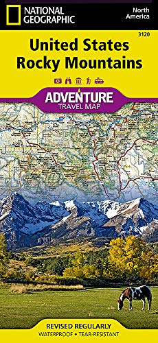 - United States, Rocky Mountains (National Geographic Adventure Map)