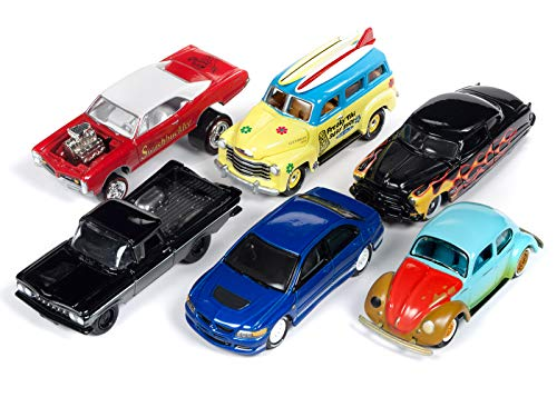 Street Freaks 2018 Release 4 Set A of 6 Cars 1/64 Diecast Models by Johnny Lightning JLSF010 A