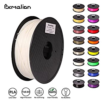 Pxmalion PLA 3D Filament, White, 1.75mm, Accuracy +/- 0.03mm, Net Weight 1KG(2.2LB), Compatible with most 3D Printer & 3D Printing Pen