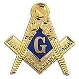 Masonic Exchange Square Compass Symbol Lapel Pin