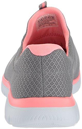 Grau Sneaker Damen GYLP Skechers Slipper Dynamight Break Grau 12991 Rosa Pink Through XfqY8